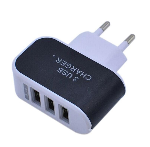 3.1A Triple USB Port Wall Home Travel AC Charger Adapter For S6 EU Plug