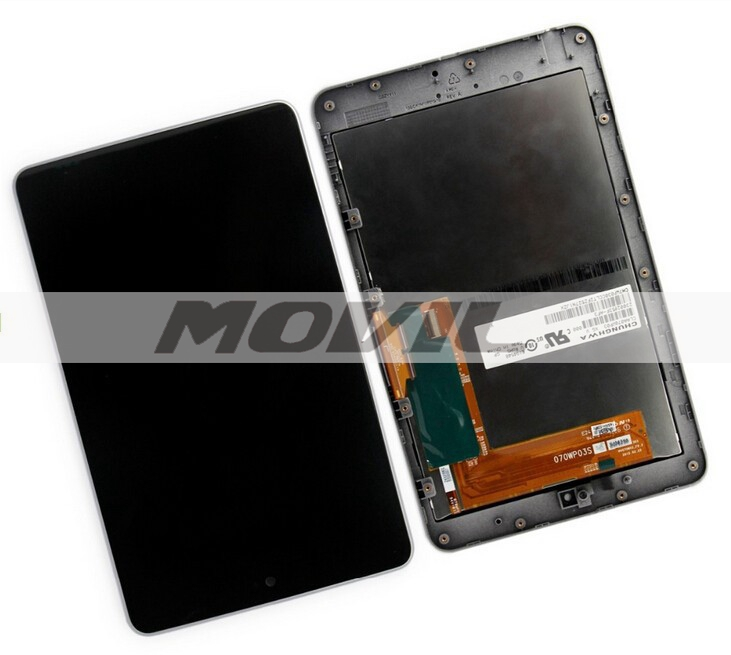 ASUS Google Nexus 7 ME370T WIFI 2012 negro Full LCD Display Panel Digitizer tacil Screen
