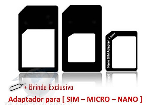 Adaptador Chip Microsim Gsm Iphone 3g 4g 5 Ipad