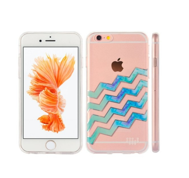 Apple iPhone 6  6s TPU Watercolor IMD Case Silver Linings wave after wave