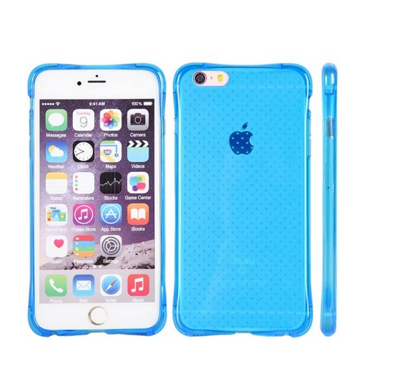 Apple iPhone 6 6s Crystal Atom Lite Anti-Shock TPU Case Blue