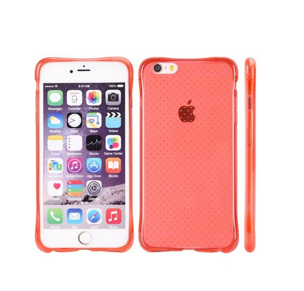 Apple iPhone 6 6s Crystal Atom Lite Anti-Shock TPU Case Clear red