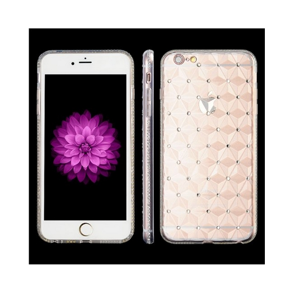 Apple iPhone 6 6s Princess 3D Diamond Cut Crystal TPU Case Clear vg