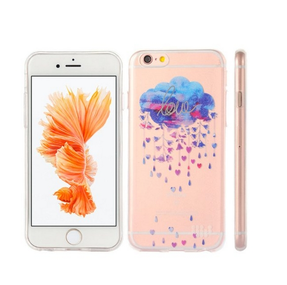 Apple iPhone 6 6s TPU Watercolor IMD Case Silver Linings