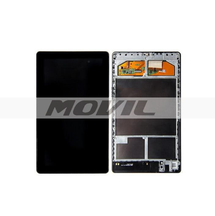 negro tacil screen digitizer lcd display assembly para Asus Google Nexus 7 2nd Gen 2013 ME571K K008