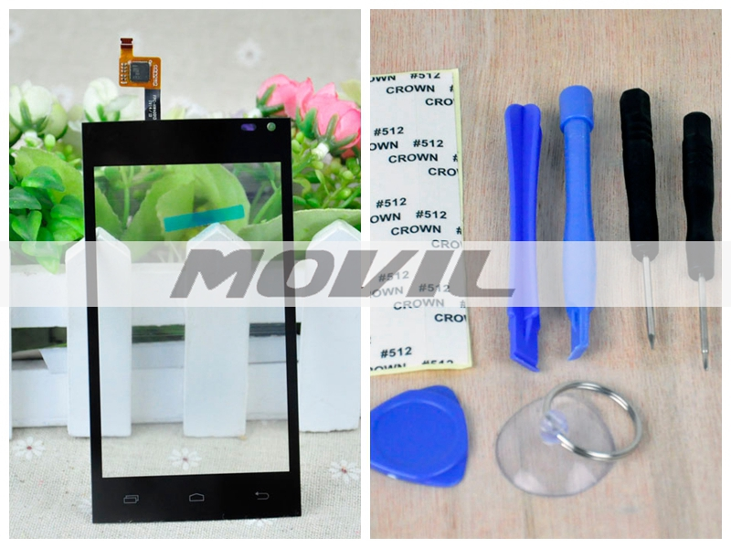 Bry New tactil Screen Digitizer para Archos 40b Titanium Front Glass Replacement tactil Panel