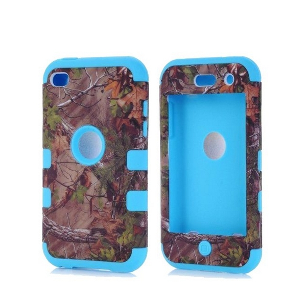 Defender Tough Armor Tree Camo Shockproof Dual Layer High Impact Camouflage Hunting blue