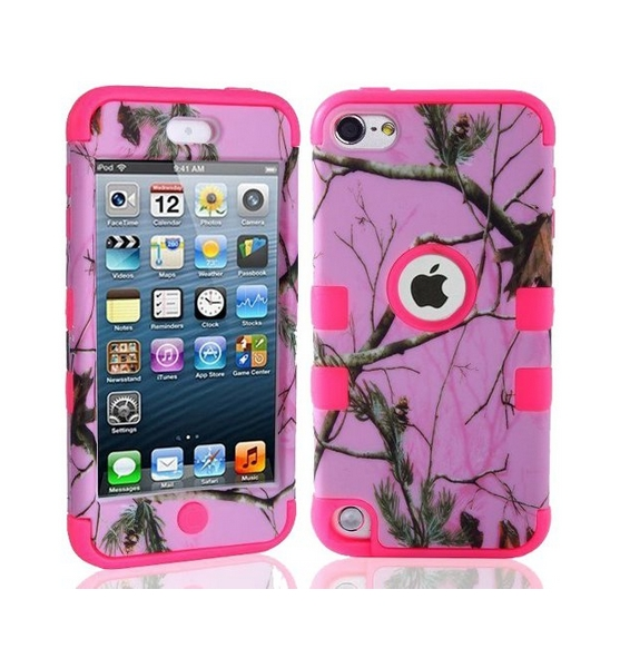 Defender Tough Armor Tree Camo Shockproof Dual Layer High Impact Camouflage Hunting pink  tree