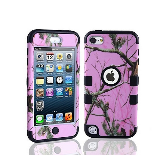 Defender Tough Armor Tree Camo Shockproof Dual Layer High Impact Camouflage Hunting pink black