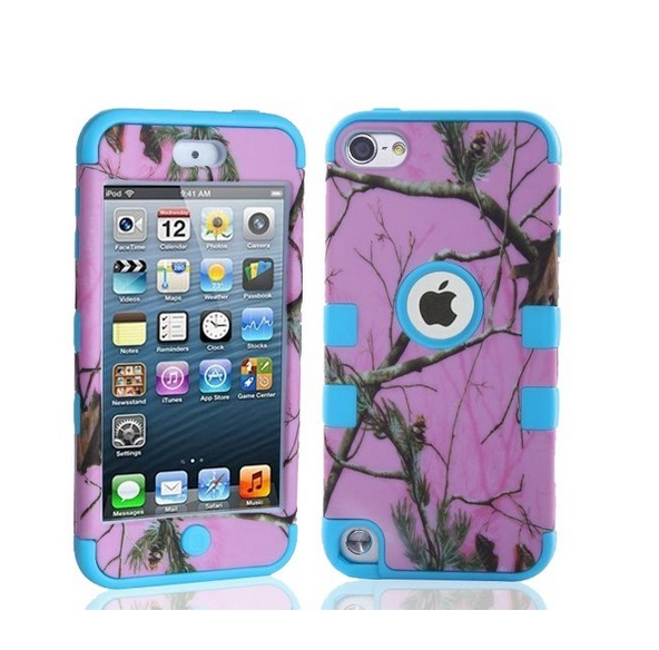 Defender Tough Armor Tree Camo Shockproof Dual Layer High Impact Camouflage Hunting pink blue