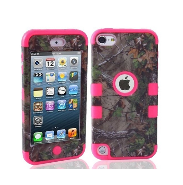 Defender Tough Armor Tree Camo Shockproof Dual Layer High Impact Camouflage Hunting pink