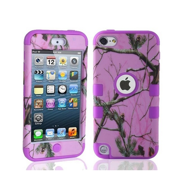 Defender Tough Armor Tree Camo Shockproof Dual Layer High Impact Camouflage Hunting purple