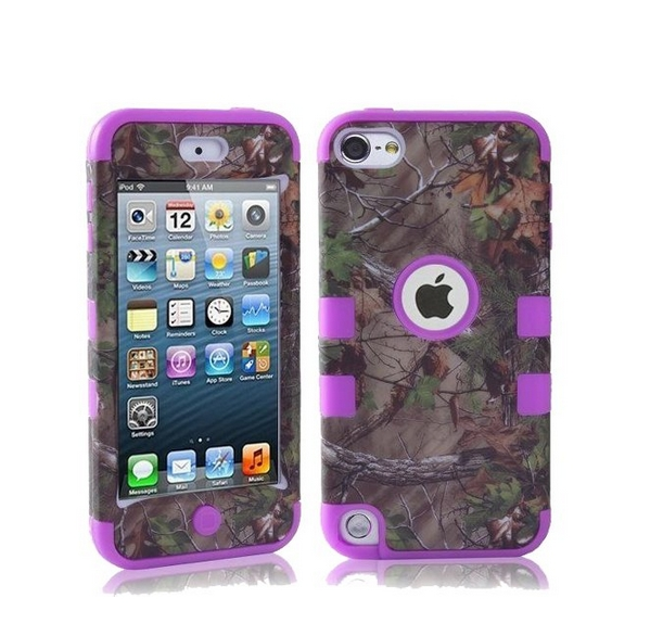 Defender Tough Armor Tree Camo Shockproof Dual Layer High Impact Camouflage Hunting tree purple