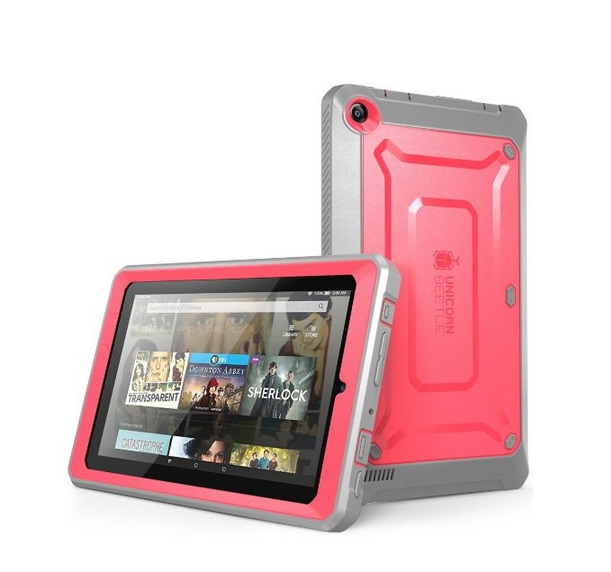 Fire 7 Case SUPCASE Heavy Duty Case for 2015 Release Amazon Fire 7 Tablet pink