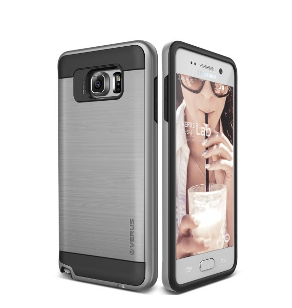 Galaxy Note 5 Case  Verus  High verge satin silver heavy duty