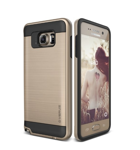 Galaxy Note 5 Case  Verus  shine gold heavy duty