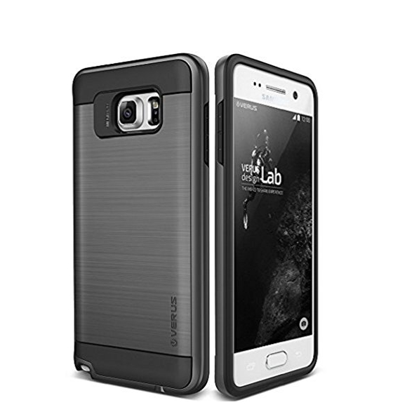 Galaxy Note 5 Case Verus Verge dark silver heavy duty