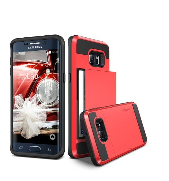 Galaxy S6 Edge Plus Case Verus red Wallet Card Slot Heavy Duty Protection For Samsung S6 Edge+
