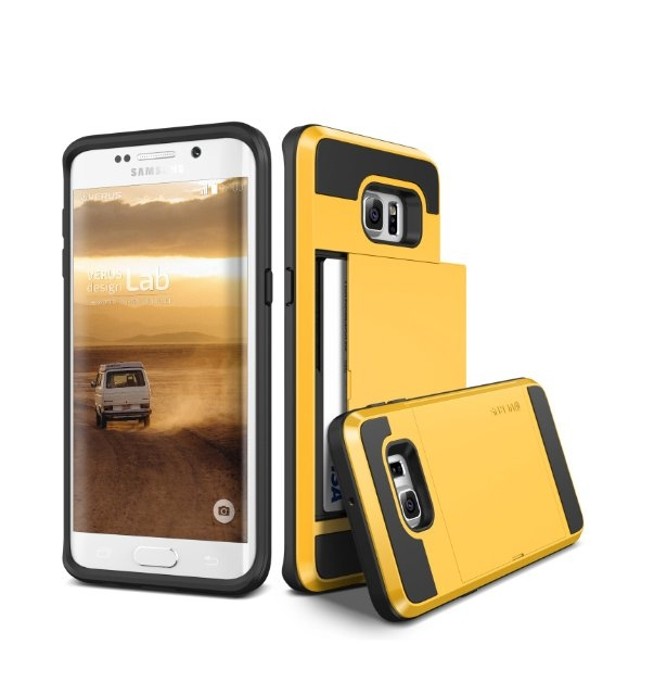 Galaxy S6 Edge Plus Case Verus yellow Wallet Card Slot Heavy Duty Protection For Samsung S6 Edge+