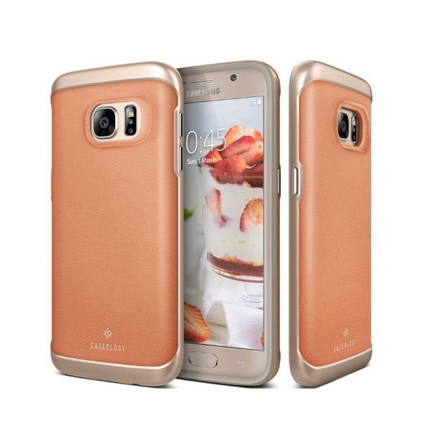Galaxy S7 Case Caseology Envoy Series GENUINE Leather Bumper Cover leather pink