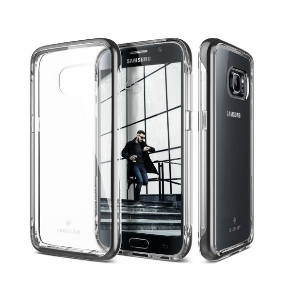 Galaxy S7 Case Caseology Skyfall Series Scratch-Resistant Clear Back Cover  Black Shock Absorbent