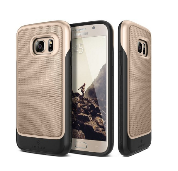 Galaxy S7 Case Caseology Vault Series Rugged Slim Cover Gold Active Armor