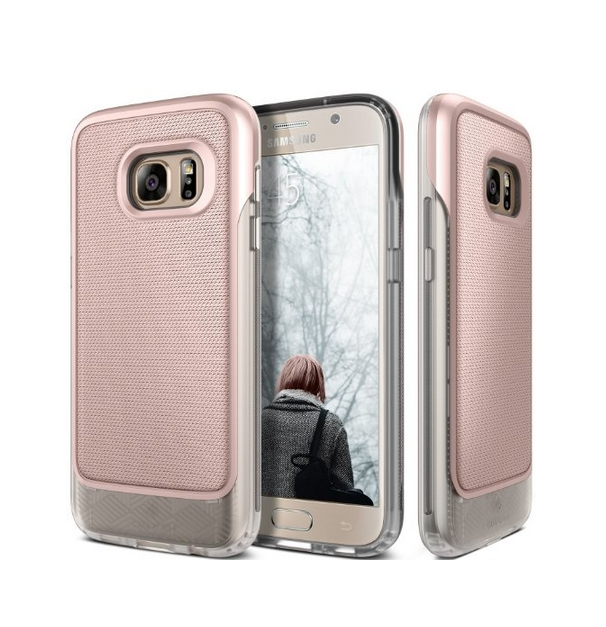 Galaxy S7 Case Caseology Vault Series Rugged Slim Cover Rose Gold Active Armor