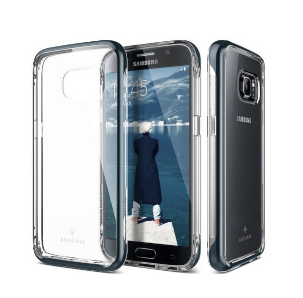 Galaxy S7 Case CaseologySkyfall Series Scratch-Resistant Clear Back Cover navy blue shock absorbent