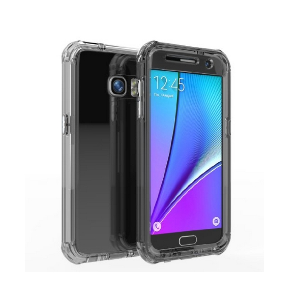 Galaxy S7 Case Joylink  New Design Dual Layer Water Resistant Solid Hybrid Shield black