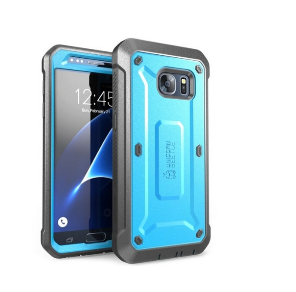 Galaxy S7 Case SUPCASE Full-body Rugged Holster Case with Built-in Screen Protector blue