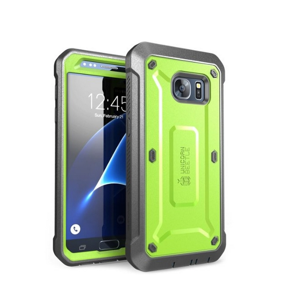 Galaxy S7 Case SUPCASE Full-body Rugged Holster Case with Built-in Screen Protector green gray