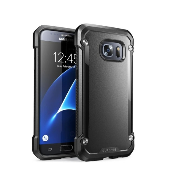 Galaxy S7 Case SUPCASE Unicorn Beetle Series Premium Hybrid Protective Clear Case black