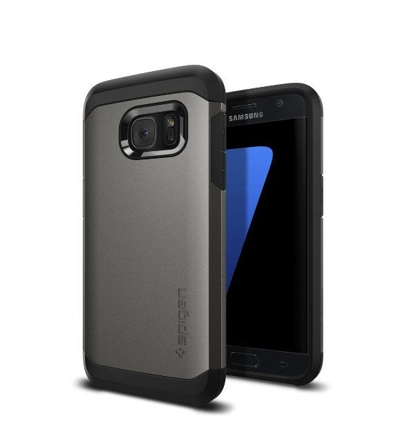 Galaxy S7 Case Spigen Tough Armor HEAVY DUTY Gunmetal  EXTREME Protection  Case for Samsung Galaxy S7