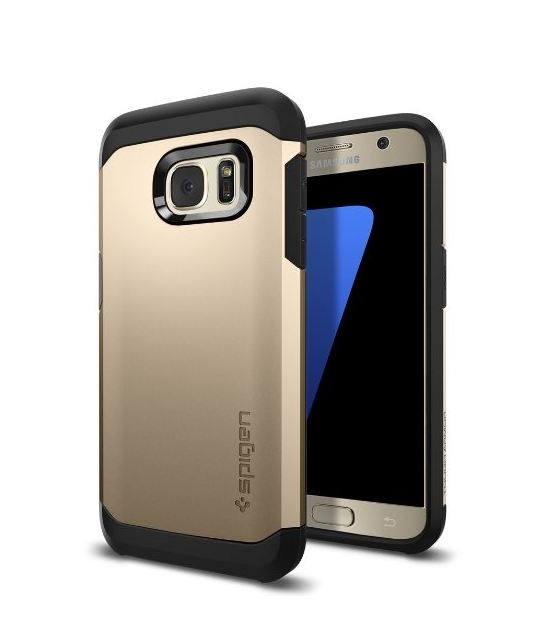 Galaxy S7 Case Spigen Tough Armor HEAVY DUTY champagne EXTREME Protection  Case for Samsung Galaxy S7