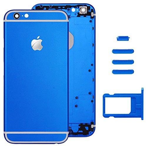 El azul  carcasa Completa Tapa trasera con Card tray & volumen tecla Control & Power Buttons para Apple iPhone 6