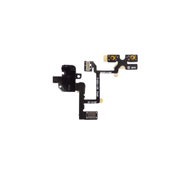 Auricular Conector Volume Botons Switch Flex para iPhone 4 negro