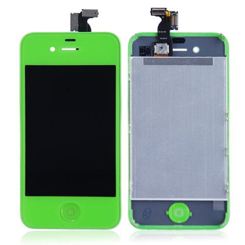 Lcd Pantalla Iphone 4G Lcd Pantalla Original LCD + Copia Touch verde