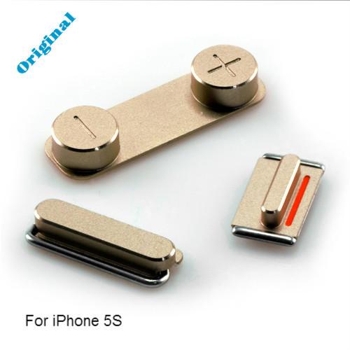 Set De Botones Laterales Para Iphone 5s Dorado