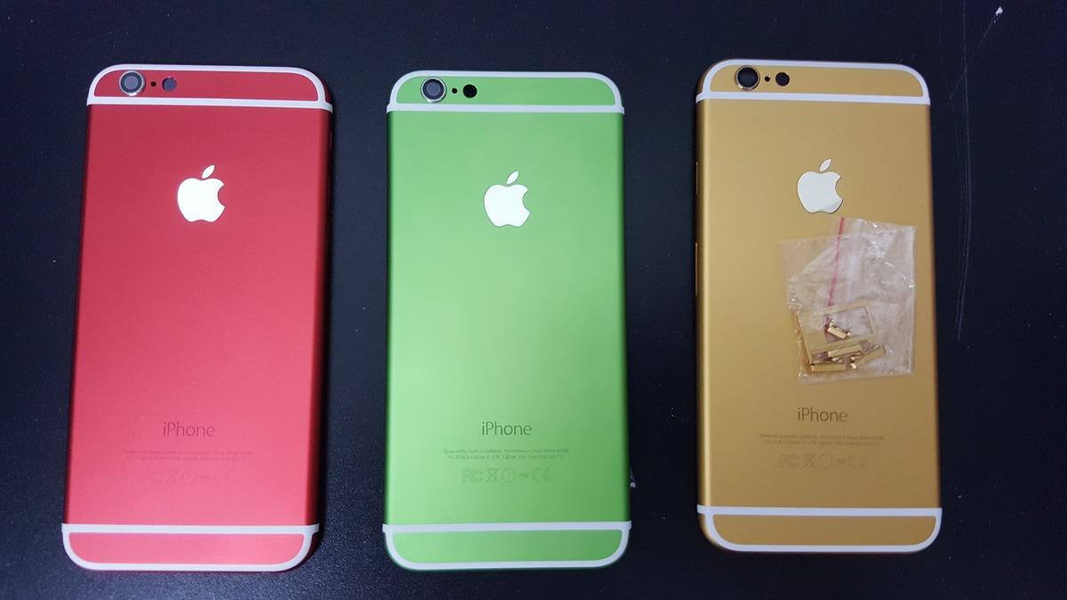 Carcasa Tapa Trasera Iphone 6 De Colores + Botones + Kit