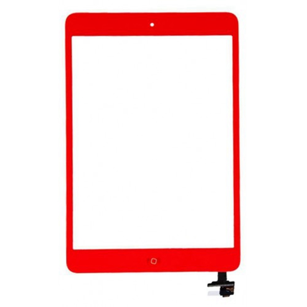 Tactil &IC Chip para iPad Mini rojo