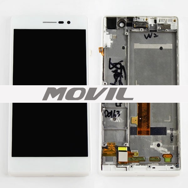 LCD Huawei Ascend P7 with touch and frame White Alta calidad Pantalla para Huawei Ascend P7 con táctil y enmarcar blanco-0