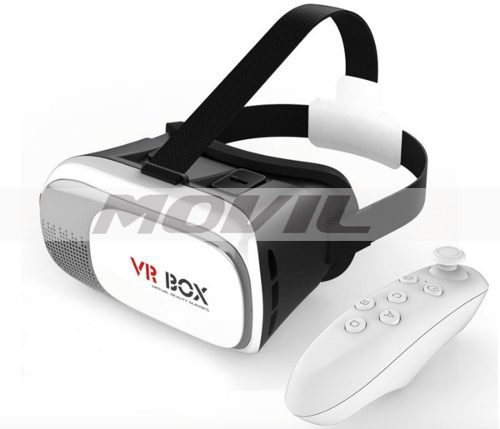 Lentes Vr Box Visor 3d Smartphone Virtual +control Bluetooth