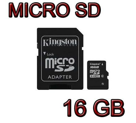Memoria Micro Sd 16gb Adaptador Usb Gratis Kingston