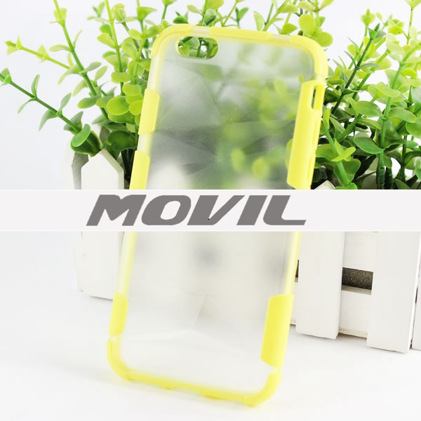 NP-1910 doble color TPU transparente funda para iPhone  6-10