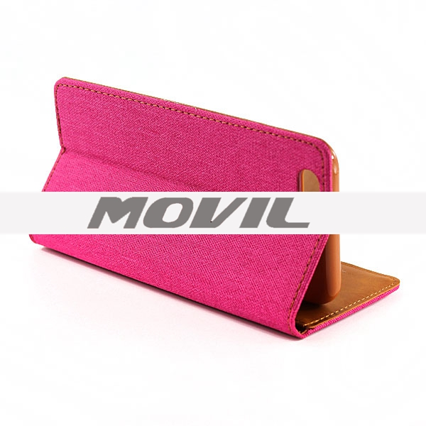 NP-2466 Color-mixto PU Funda para Apple iPhone 6-6