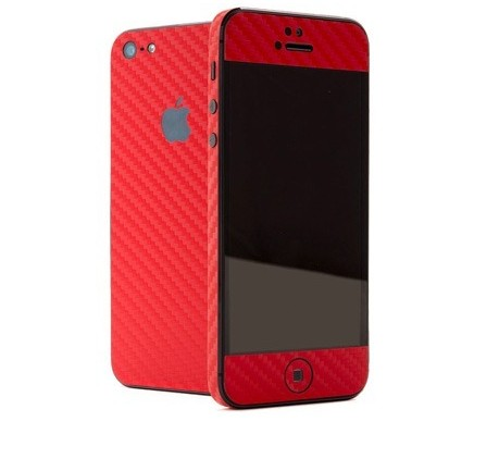 Skin Sticker Fibra De Carbono Para Iphone 5 Completo