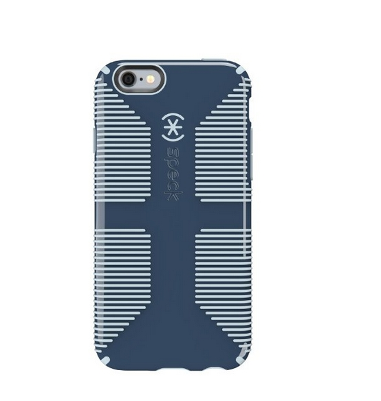 Speck Products CandyShell Grip Case for iPhone 6 6S - Retail Packaging- Shadow Blue Nickel Grey