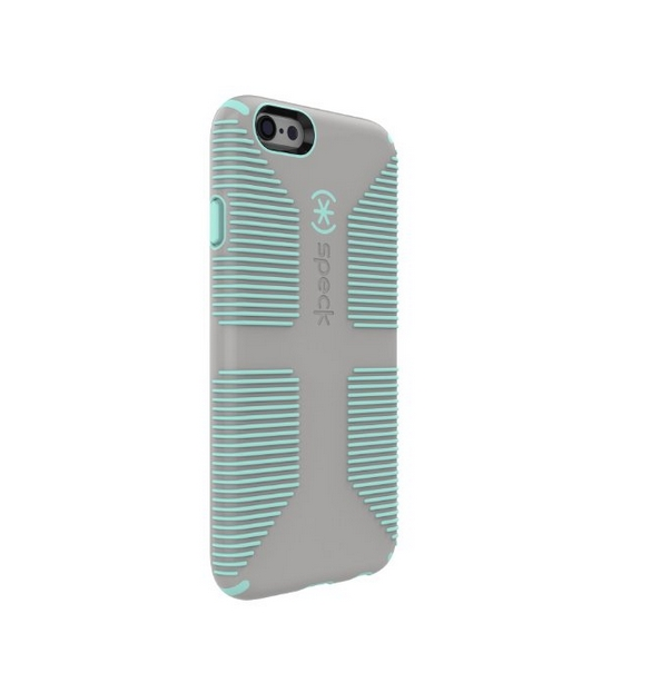 Speck Products CandyShell Grip for iPhone 6 6s - Retail Packaging - Sand Grey Aloe Green