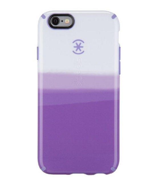 Speck Products CandyShell Inked Carrying Case for iPhone 6 - Retail Packaging - ColorDip Purple Pattern Wisteria Purple