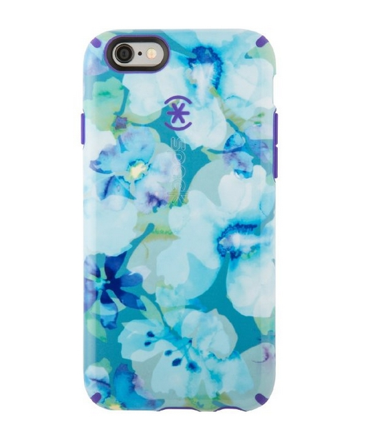 Speck Products CandyShell Inked Case for iPhone 6 6S - Aqua Floral Blue